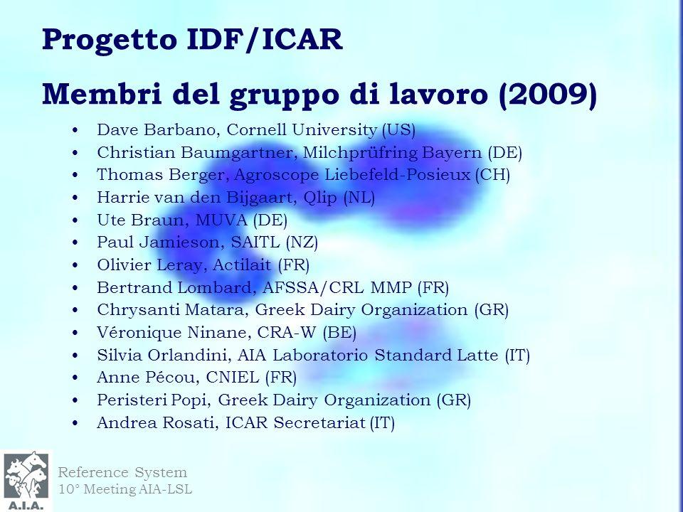 Membri del gruppo di lavoro (2009)