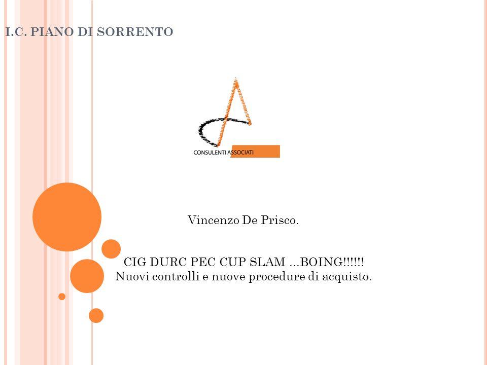 I.C. PIANO DI SORRENTO Vincenzo De Prisco. CIG DURC PEC CUP SLAM ...BOING!!!!!.