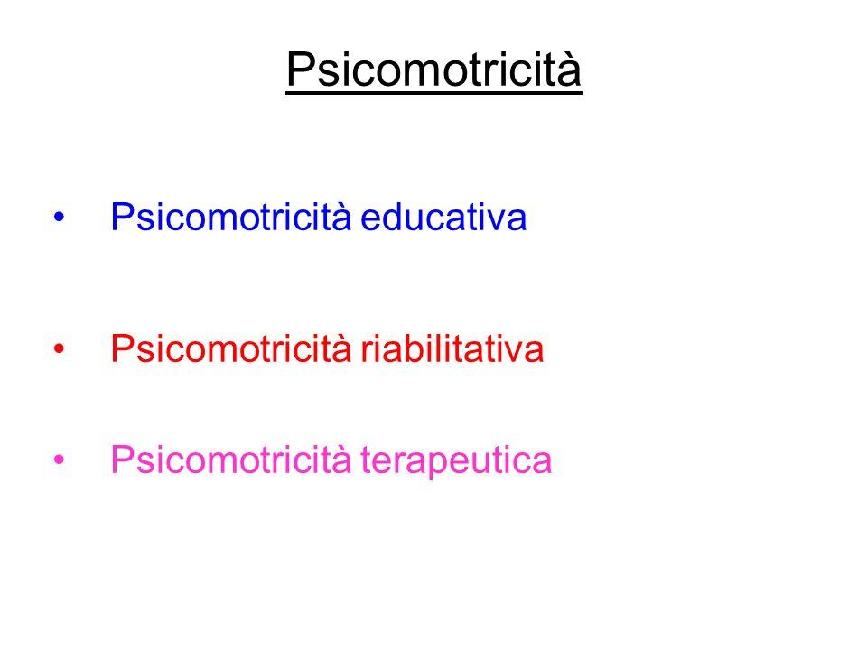 Psicomotricità Psicomotricità educativa Psicomotricità riabilitativa