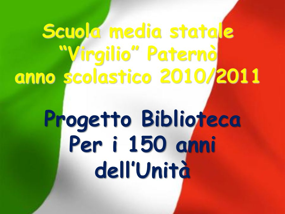 Scuola media statale Virgilio Paternò anno scolastico 2010/2011
