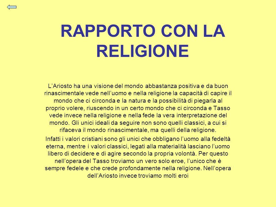 RAPPORTO CON LA RELIGIONE