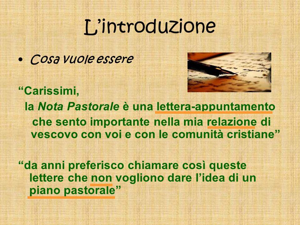la Nota Pastorale è una lettera-appuntamento