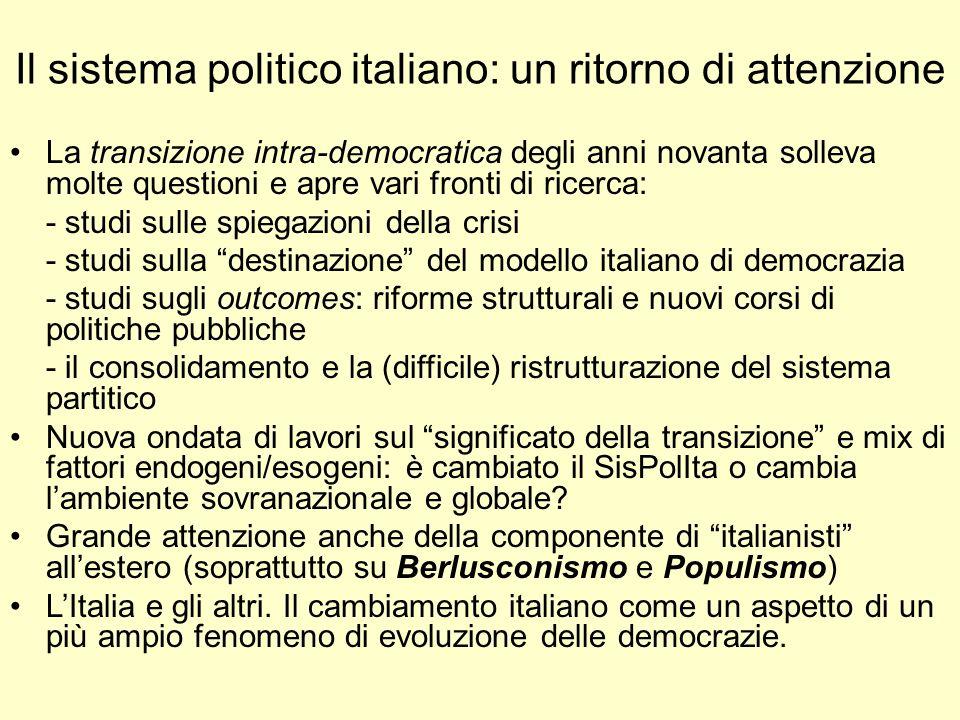 Il sistema politico italiano: un ritorno di attenzione