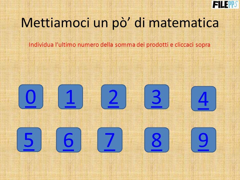 Mettiamoci un pò' di matematica