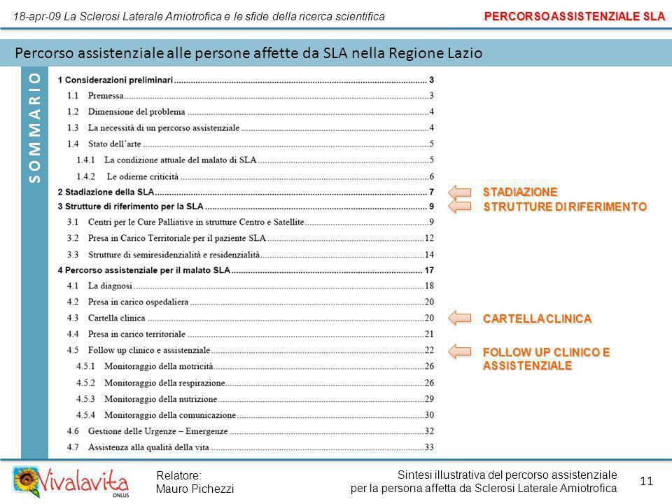 Percorso assistenziale alle persone affette da SLA nella Regione Lazio