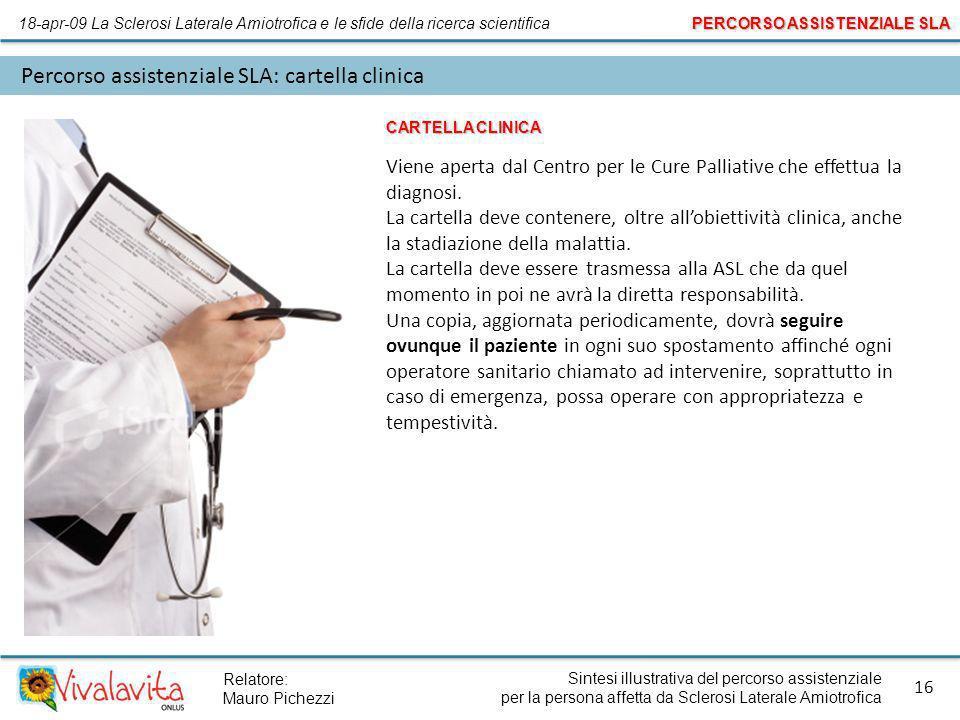 Percorso assistenziale SLA: cartella clinica
