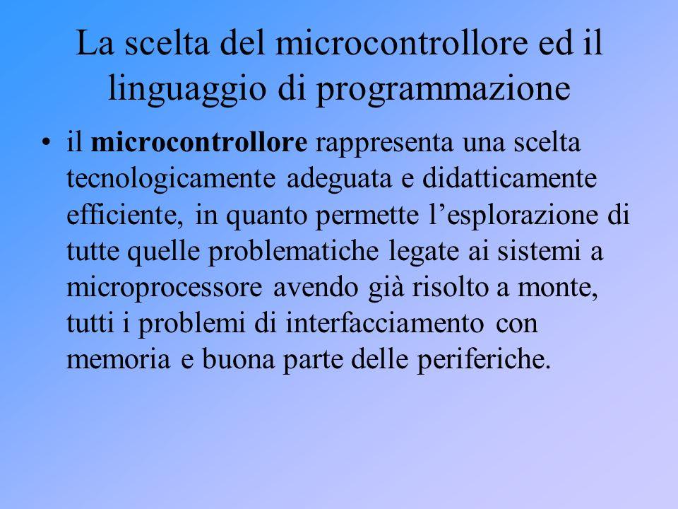 La scelta del microcontrollore ed il linguaggio di programmazione
