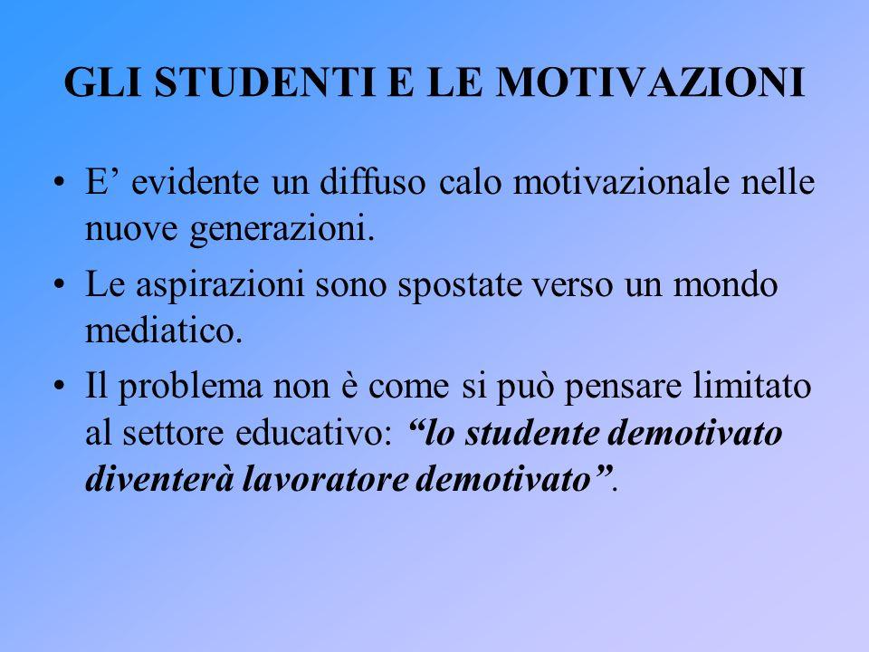 GLI STUDENTI E LE MOTIVAZIONI