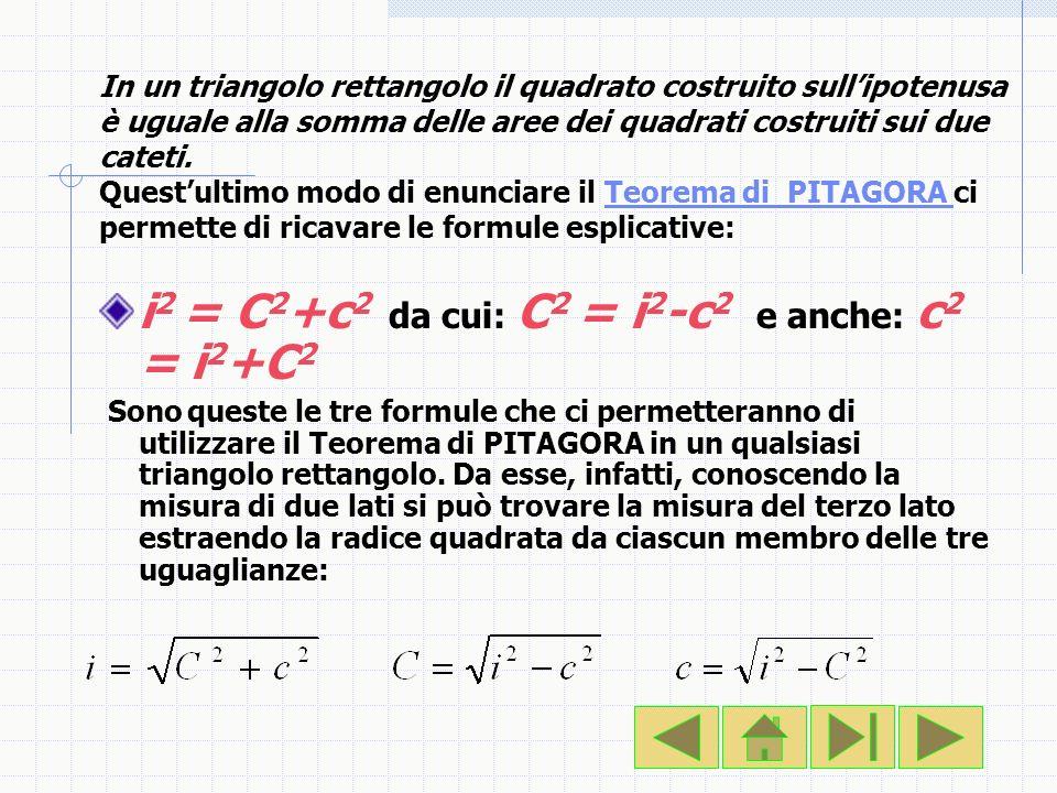 i2 = C2+c2 da cui: C2 = i2-c2 e anche: c2 = i2+C2