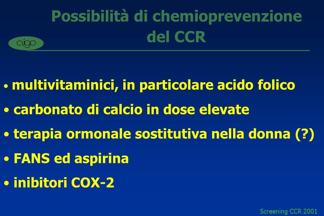 Possibilità di chemioprevenzione del CCR