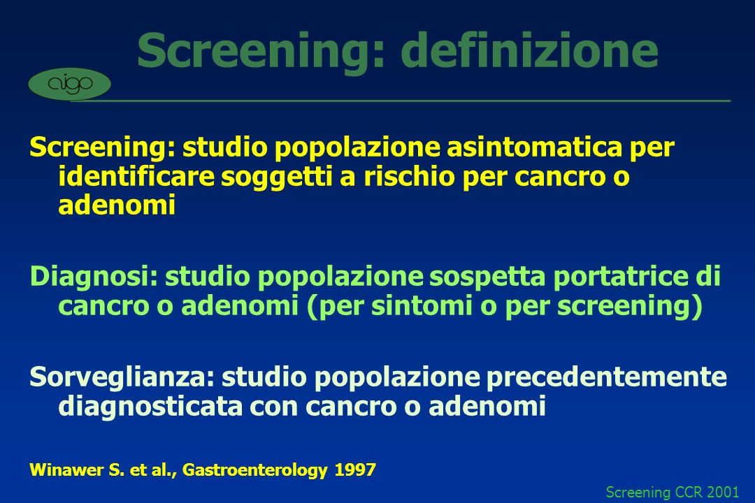 Screening: definizione