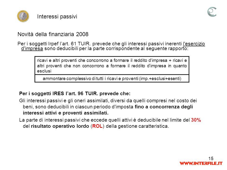 Novità della finanziaria 2008