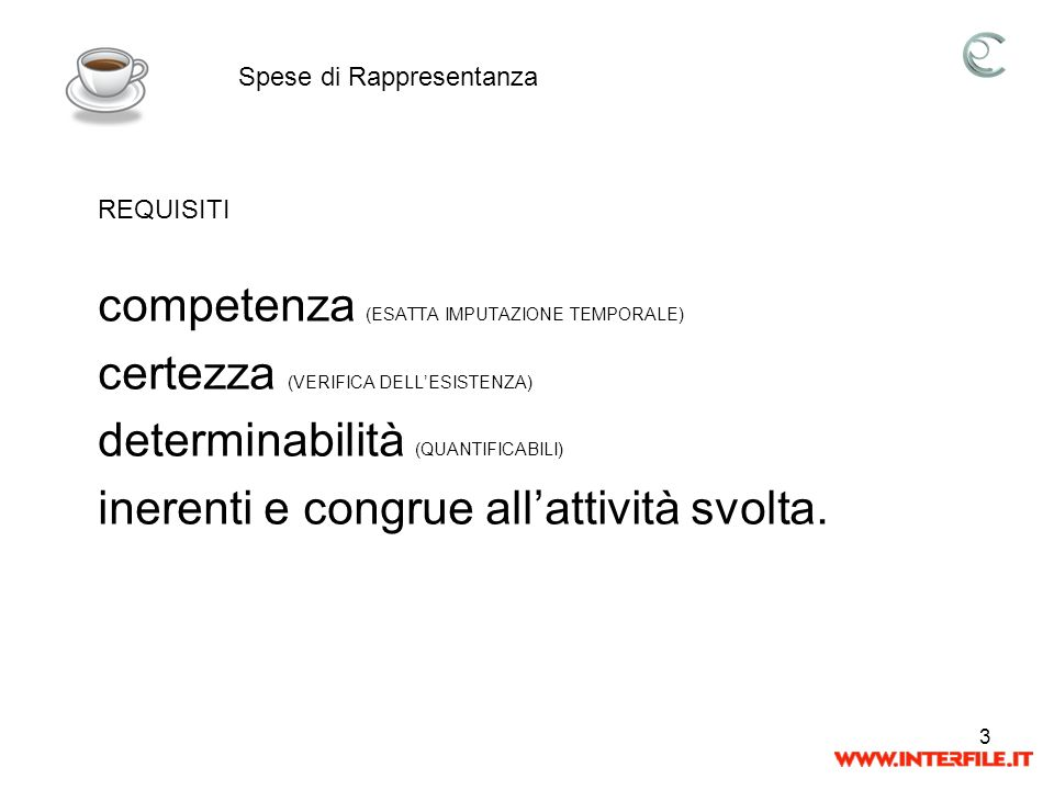 competenza (ESATTA IMPUTAZIONE TEMPORALE)