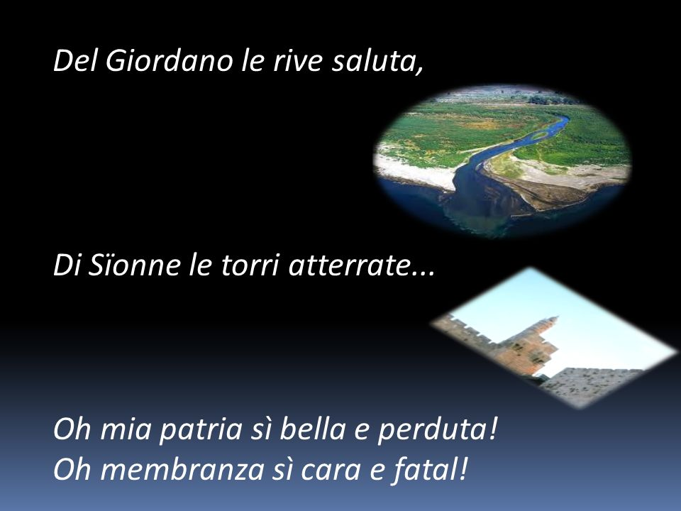 Del Giordano le rive saluta,
