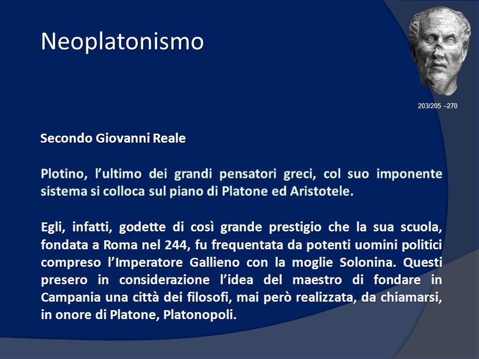 Neoplatonismo Secondo Giovanni Reale