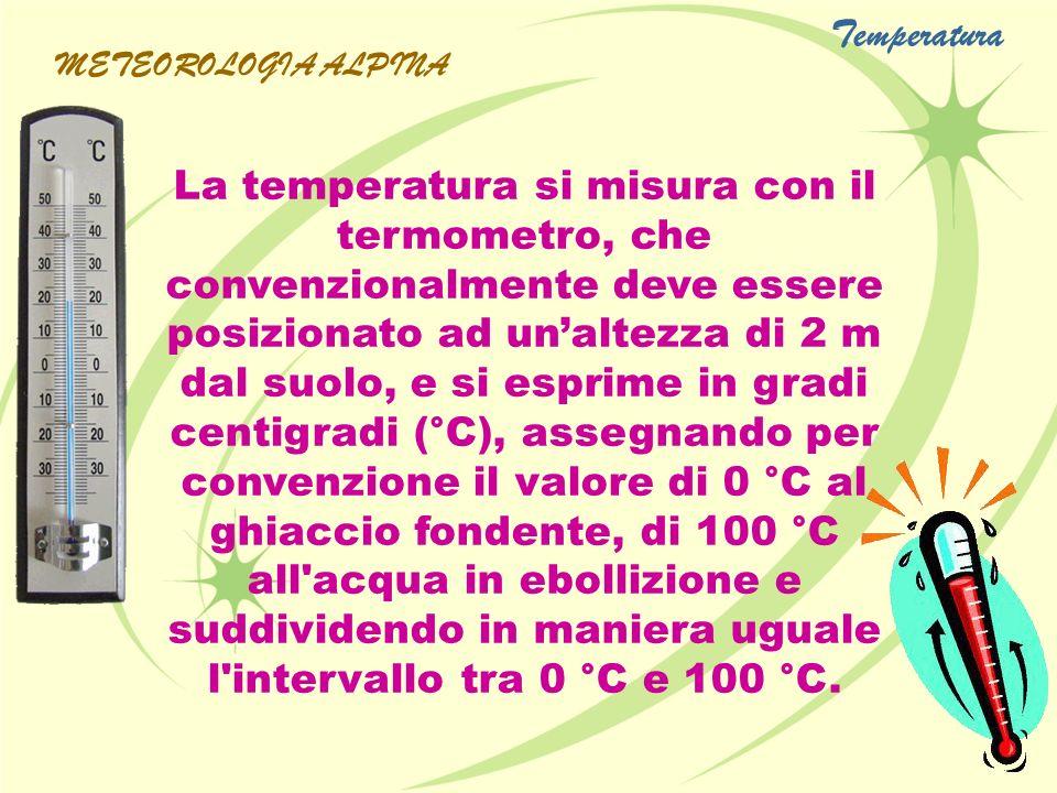 Temperatura METEOROLOGIA ALPINA.