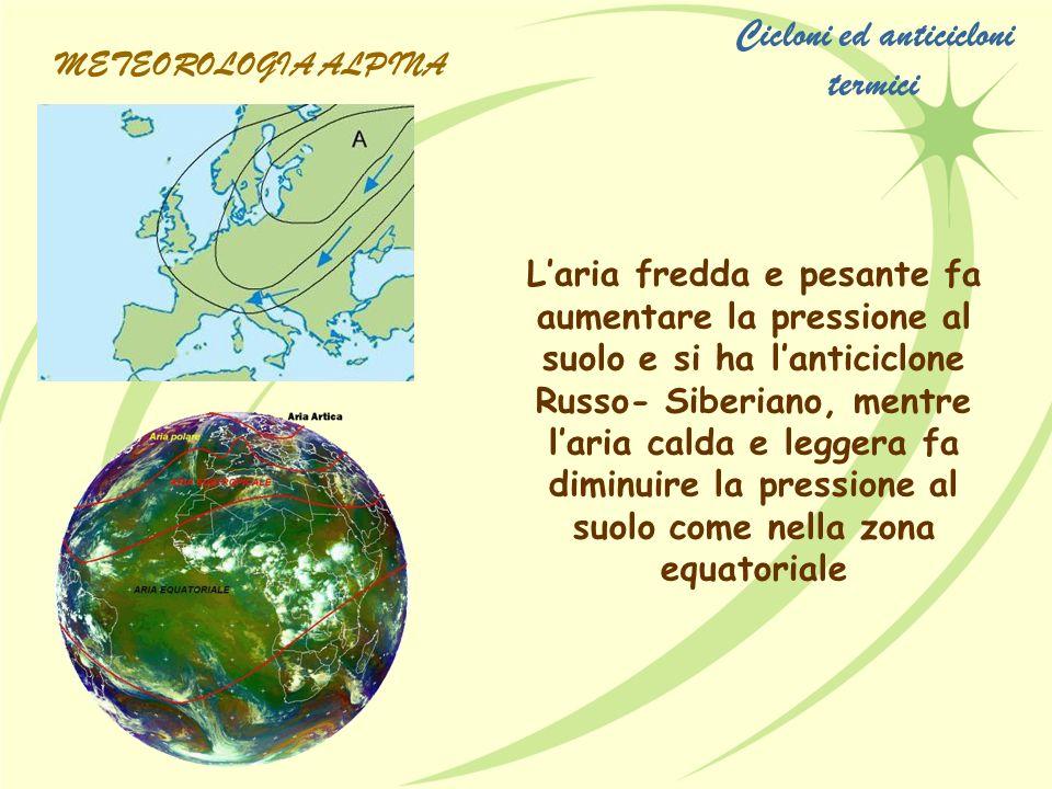 Cicloni ed anticicloni termici