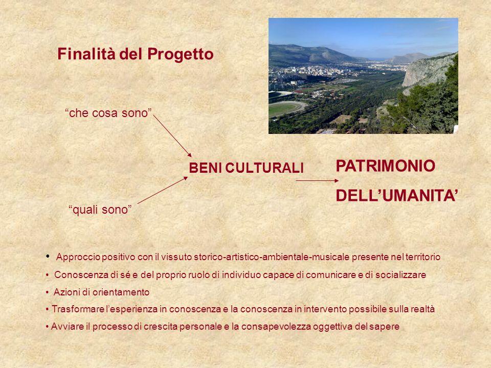 Finalità del Progetto PATRIMONIO DELL'UMANITA' BENI CULTURALI