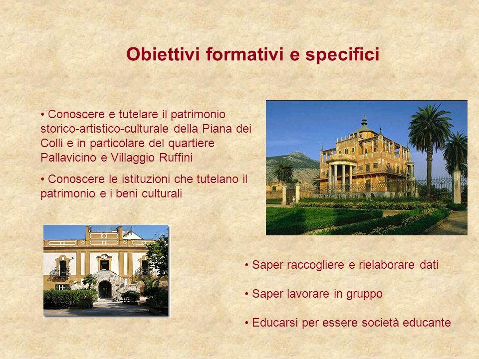 Obiettivi formativi e specifici