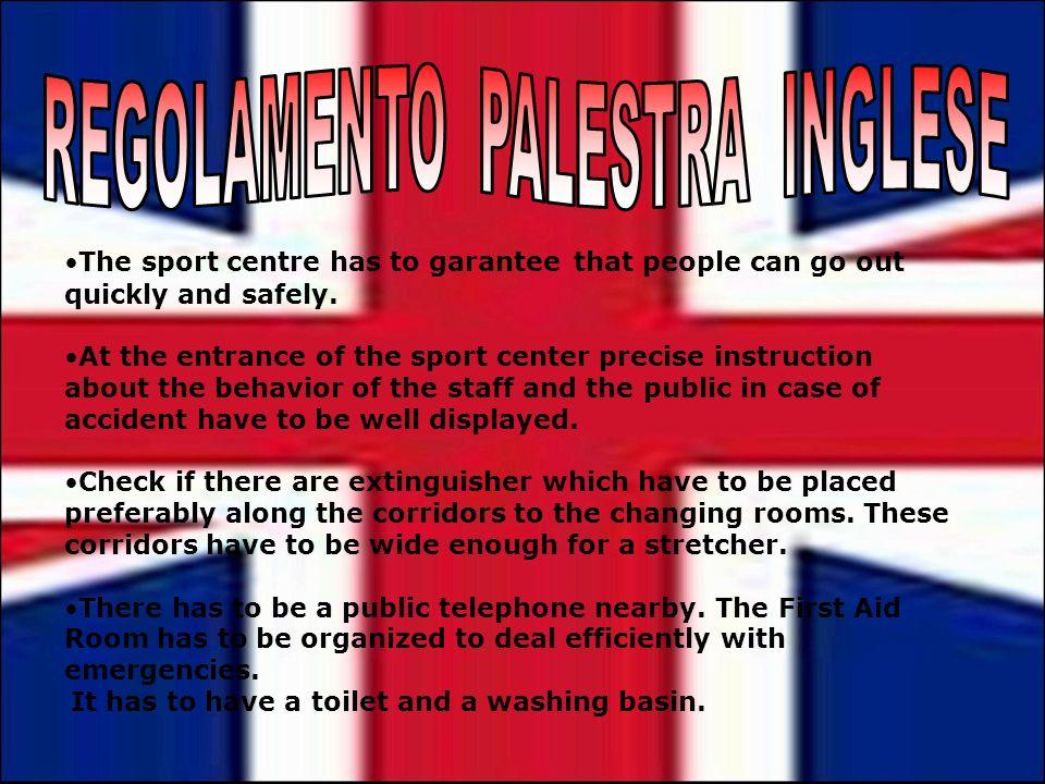 REGOLAMENTO PALESTRA INGLESE
