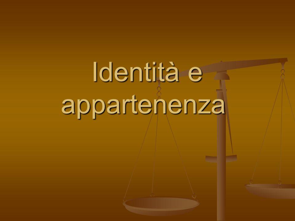 Identità e appartenenza