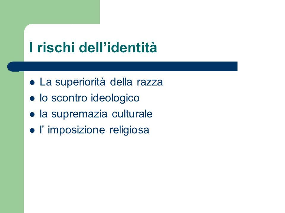 I rischi dell'identità