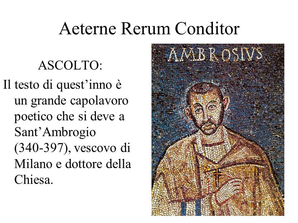 Aeterne Rerum Conditor