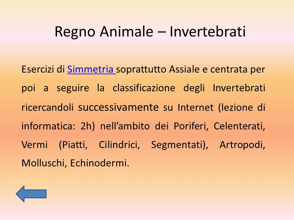 Regno Animale – Invertebrati