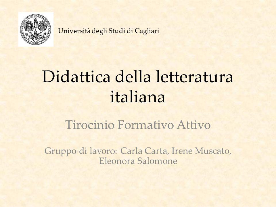 Didattica della letteratura italiana