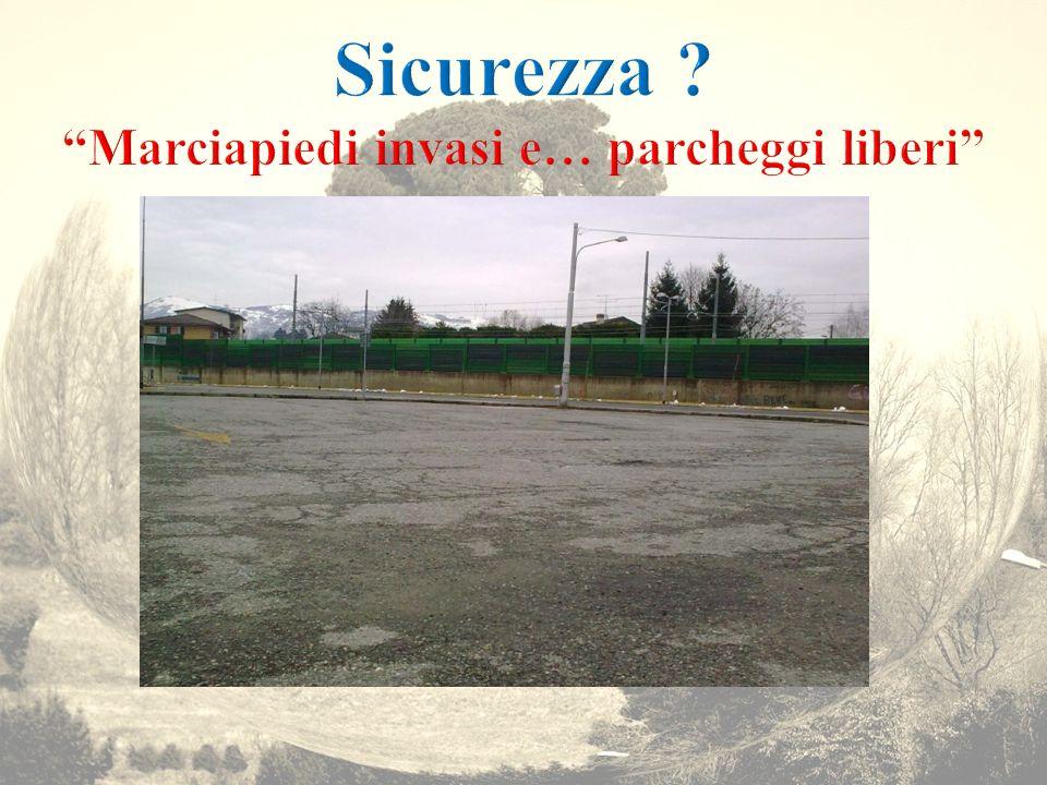 Sicurezza Marciapiedi invasi e… parcheggi liberi