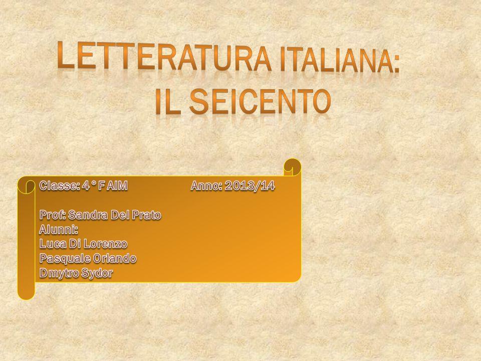 LETTERATURA ITALIANA: