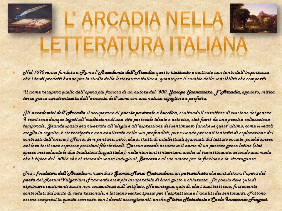 L' Arcadia nella letteratura italiana