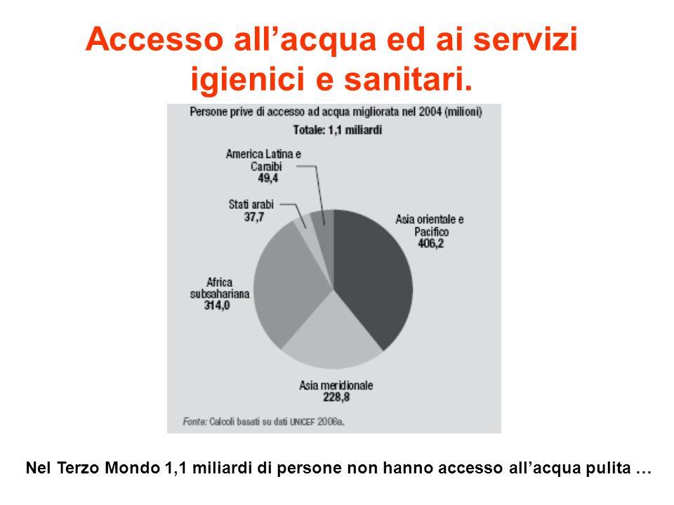 Accesso all'acqua ed ai servizi igienici e sanitari.