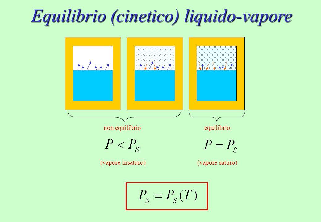 Equilibrio (cinetico) liquido-vapore