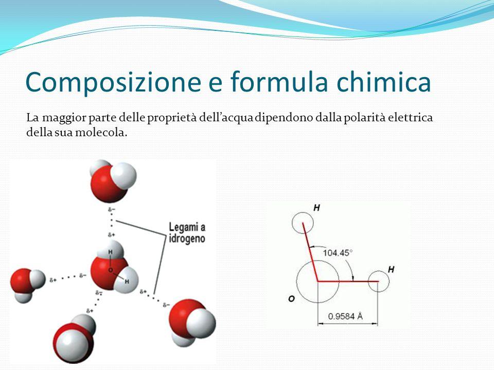 Composizione e formula chimica