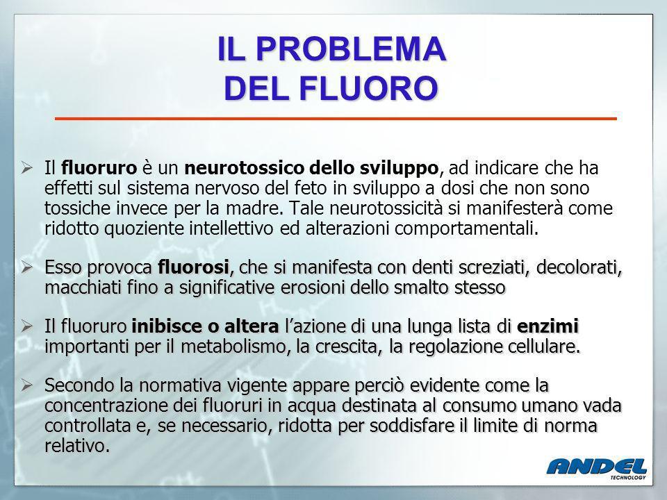 IL PROBLEMA DEL FLUORO.