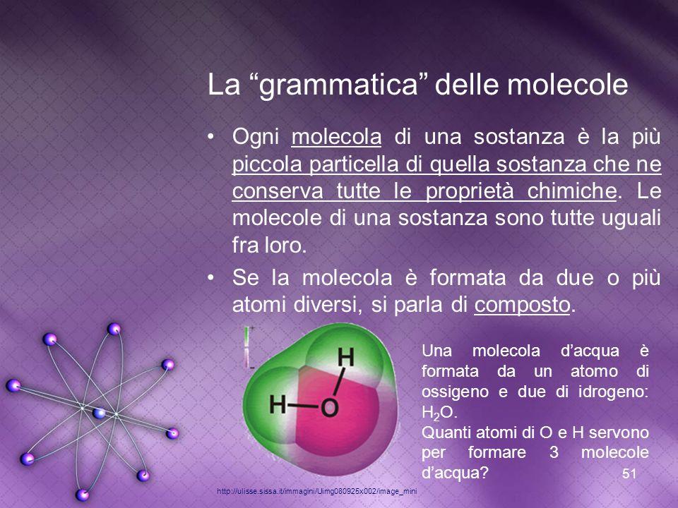 La grammatica delle molecole
