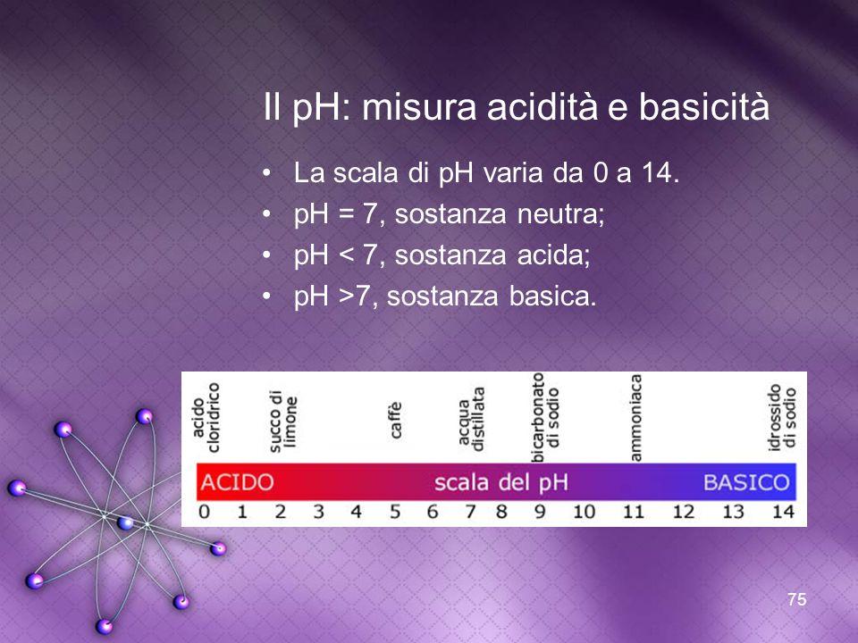 Il pH: misura acidità e basicità