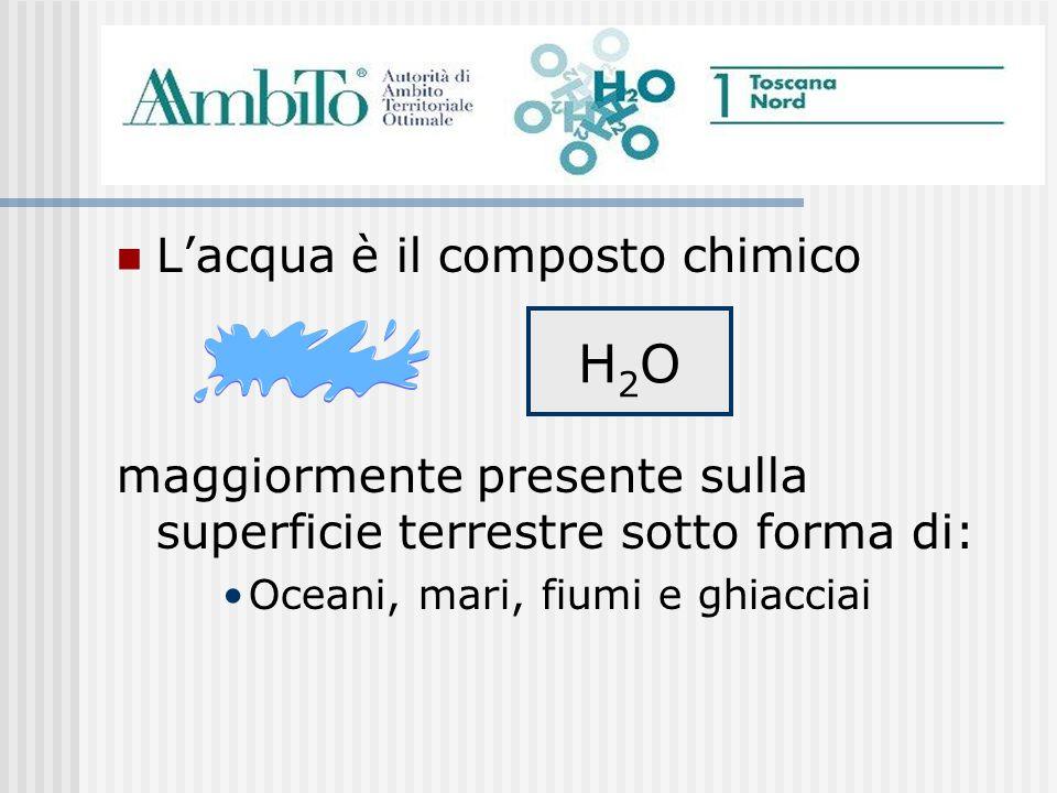 H2O L'acqua è il composto chimico