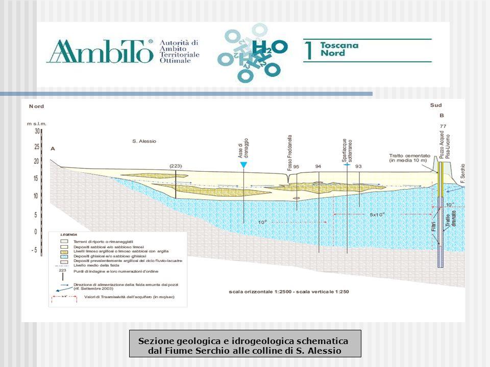 Sezione geologica e idrogeologica schematica