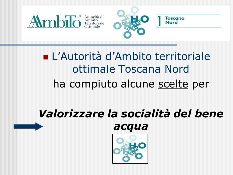 L'Autorità d'Ambito territoriale ottimale Toscana Nord
