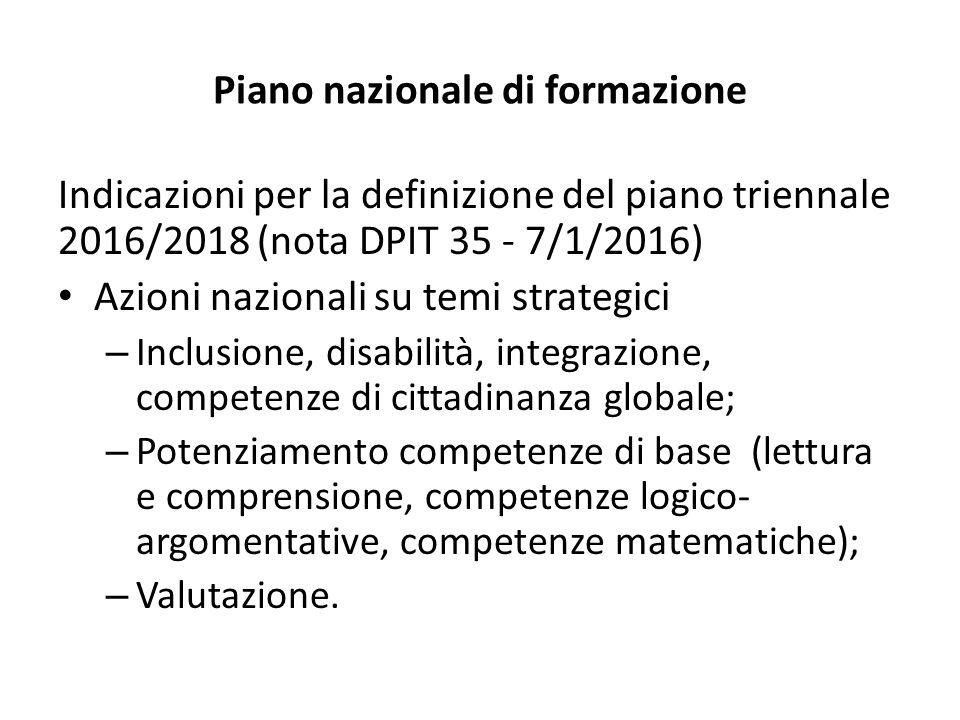 Piano nazionale di formazione