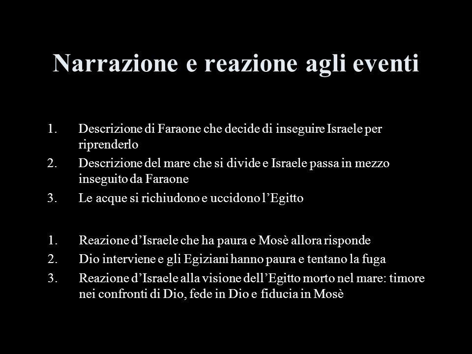 Narrazione e reazione agli eventi