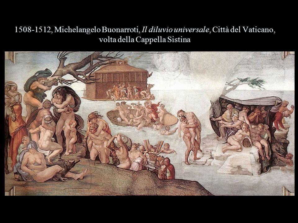 1508-1512, Michelangelo Buonarroti, Il diluvio universale, Città del Vaticano, volta della Cappella Sistina