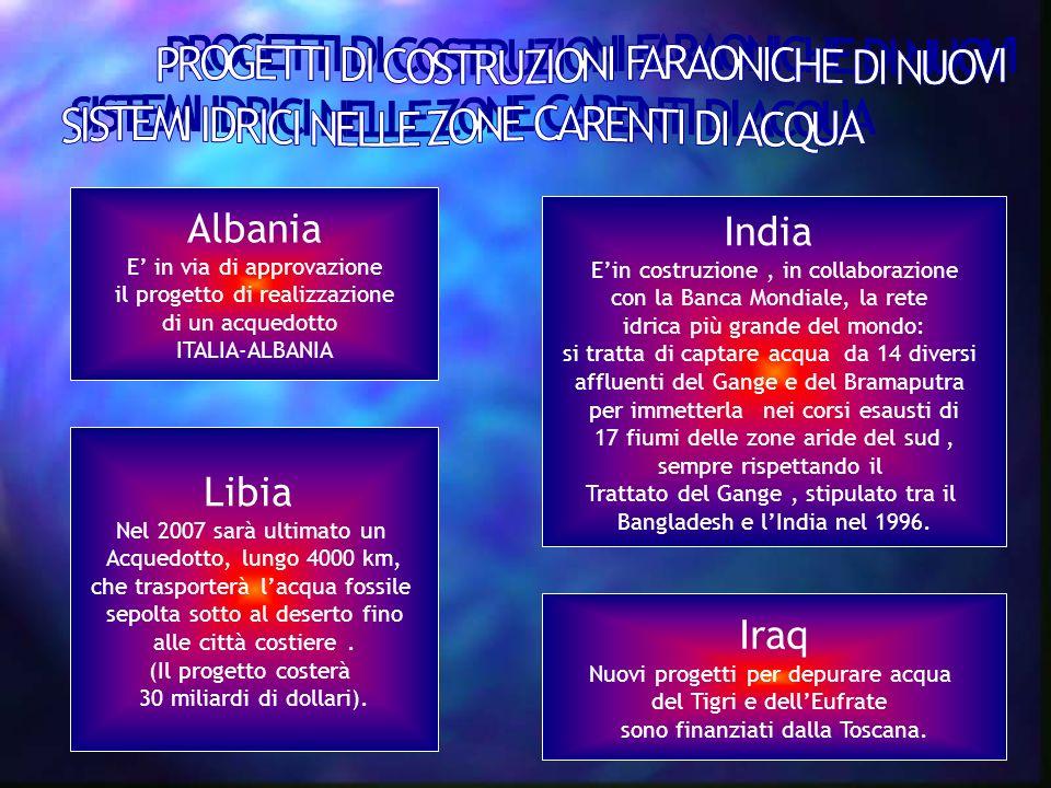 Albania India Libia Iraq PROGETTI DI COSTRUZIONI FARAONICHE DI NUOVI
