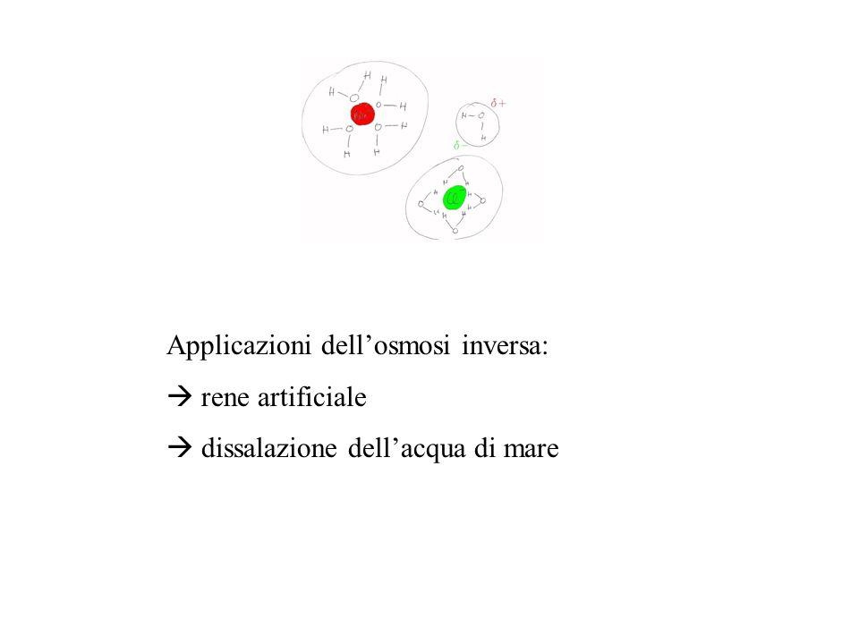 Applicazioni dell'osmosi inversa: