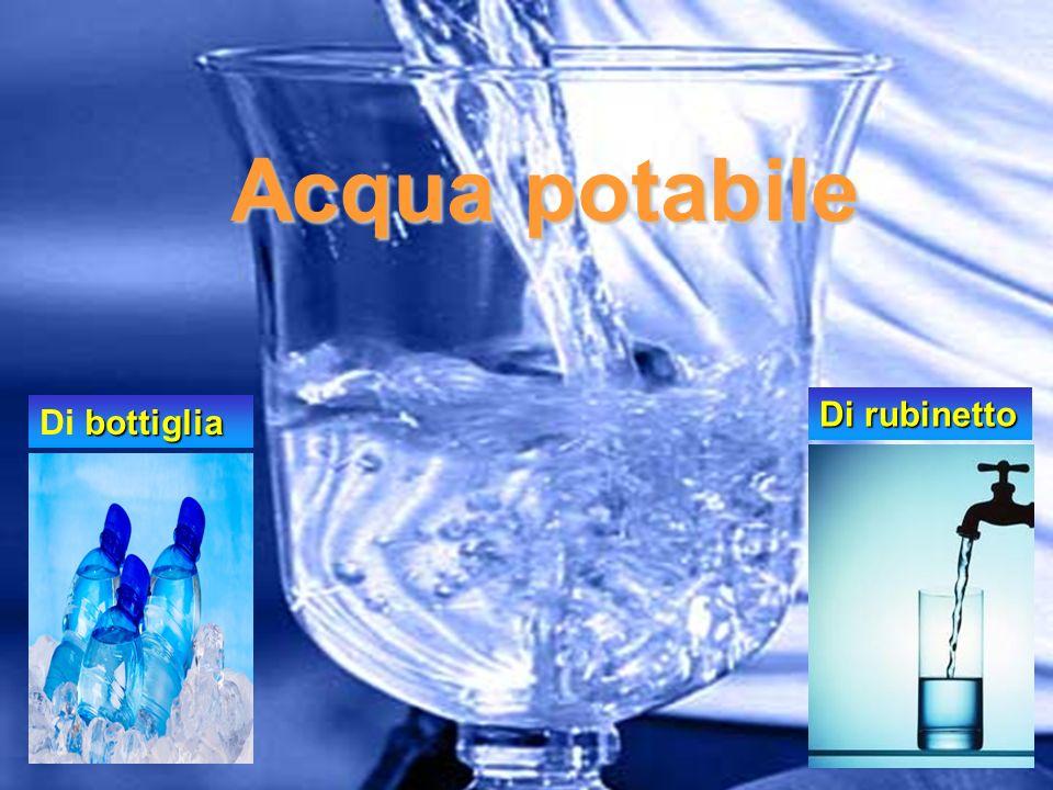 Acqua potabile Di rubinetto Di bottiglia