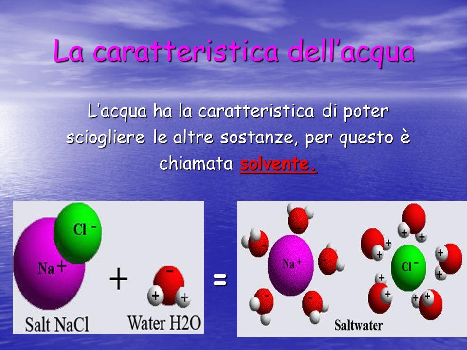 La caratteristica dell'acqua