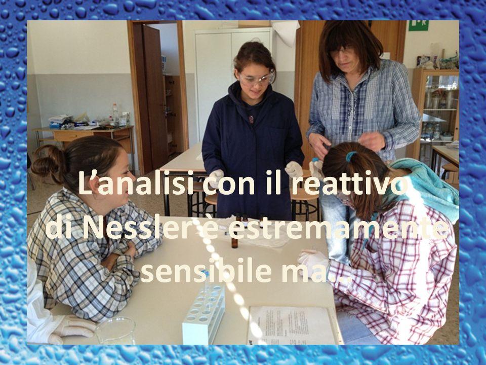 L'analisi con il reattivo di Nessler è estremamente