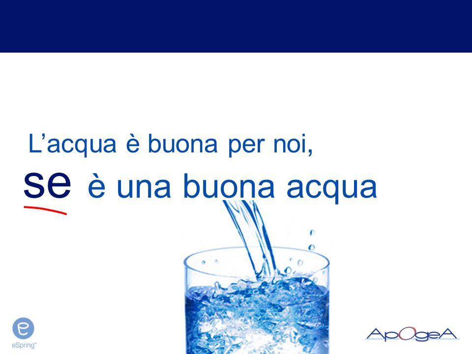 Un'acqua non sicura può portare a…
